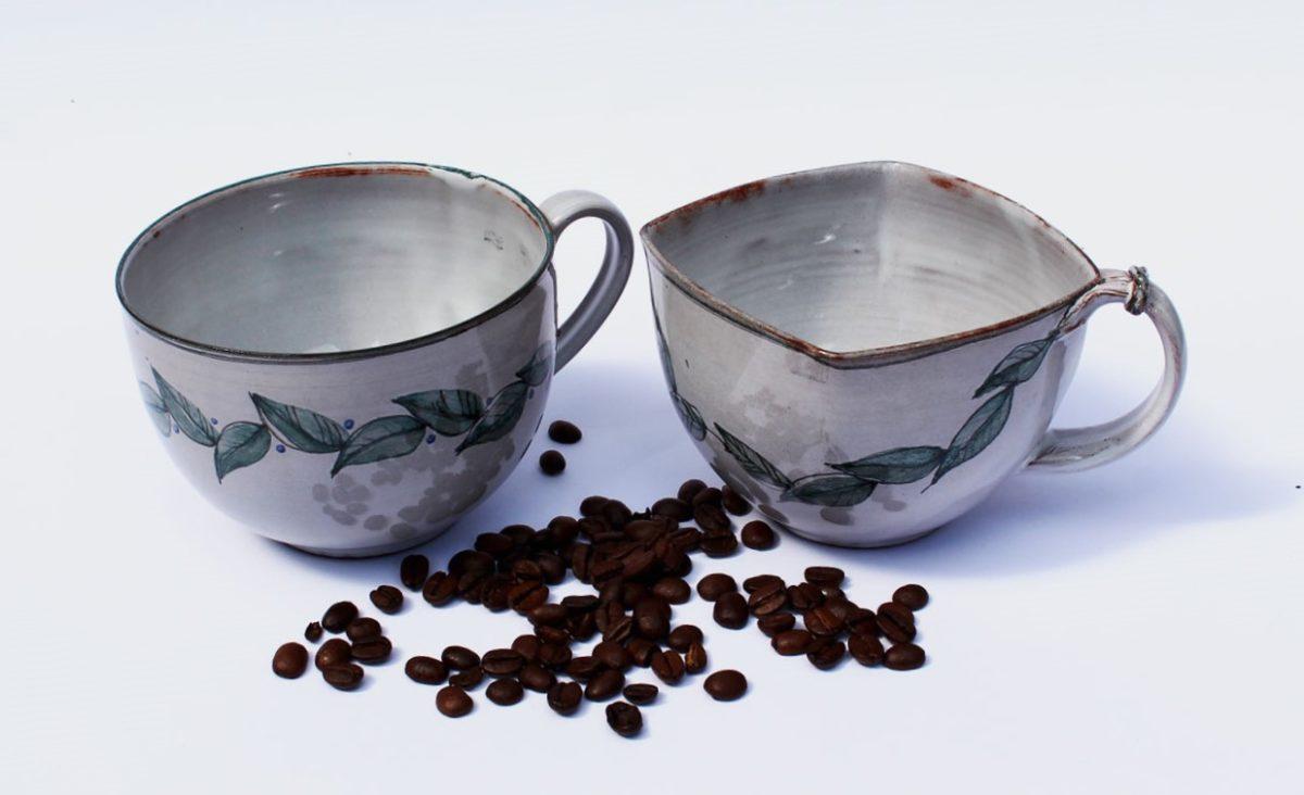 Kaffee Pott Fayencen Keramik