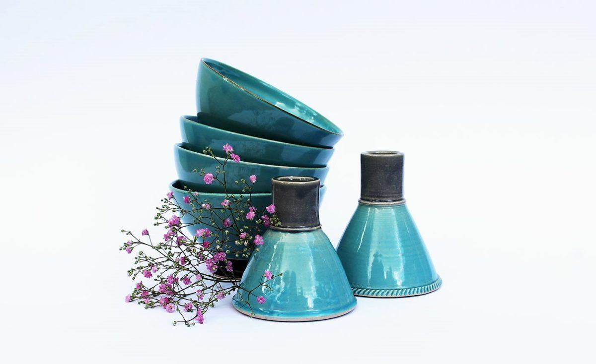 Keramik- Meuslischale Vasen