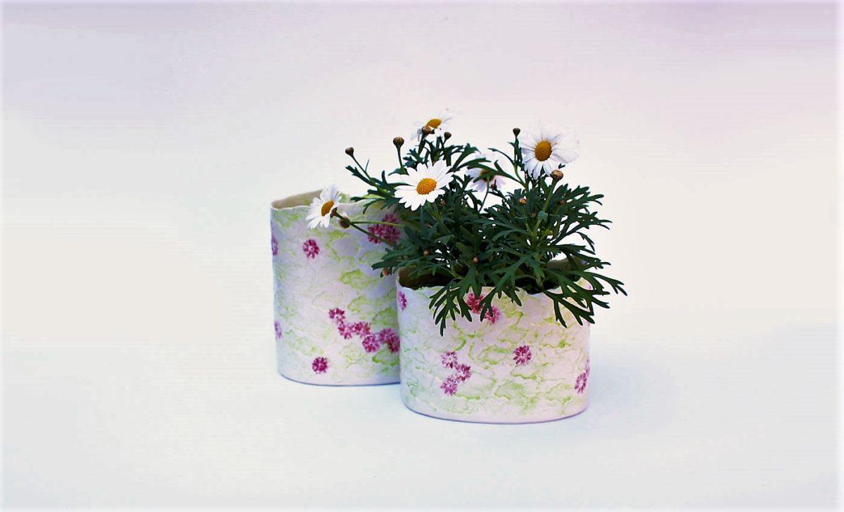 Porzellanvase kleine Streublumen