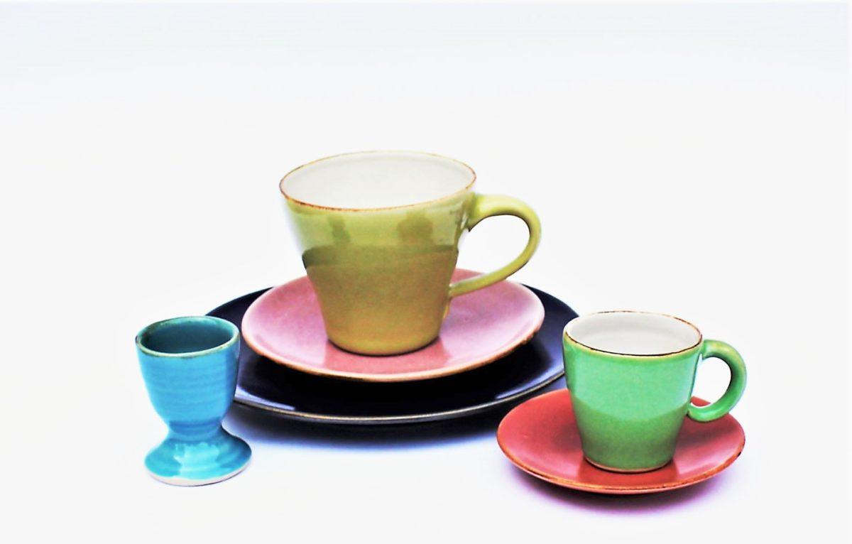 Keramik Teller gross - klein Tassen Espressogedeck