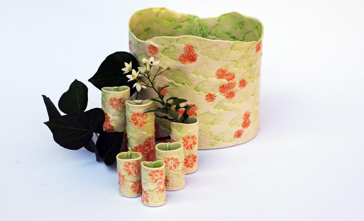 Vasen-Porzellan-Streublumen