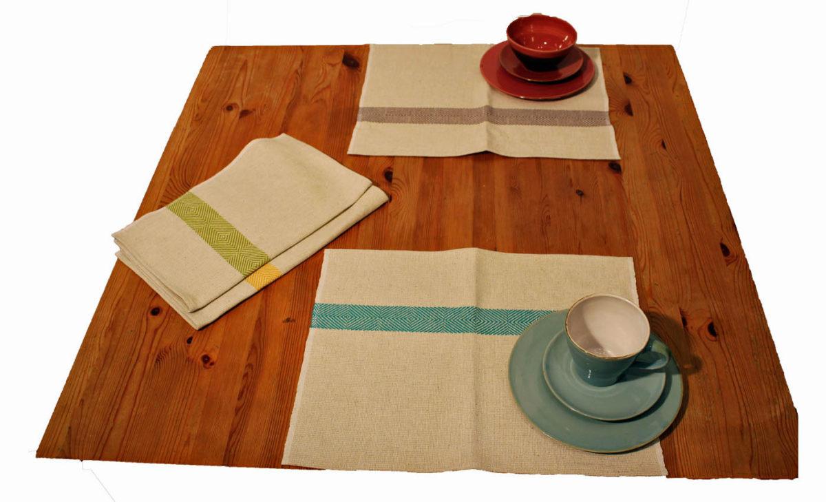 Tischsets-handgewebt